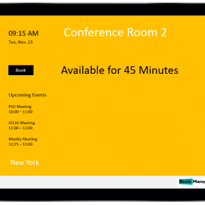 ConferenceRoomDisplayYellowAvailable