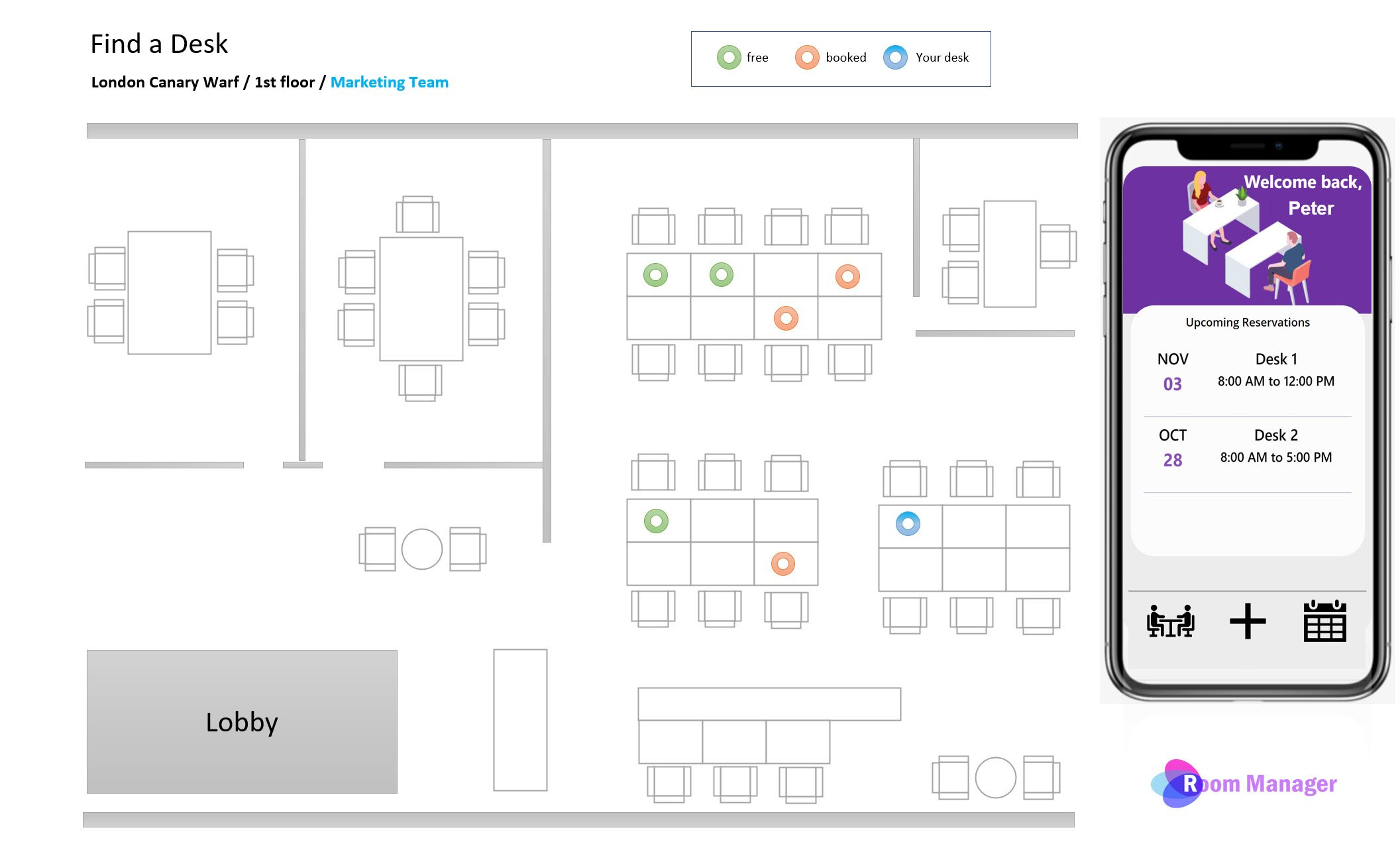 Desk Booking with Floorplans