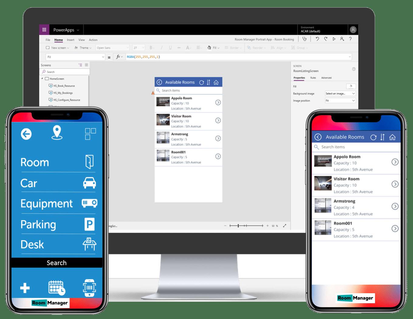 PowerApps Desktop Room Mobile App